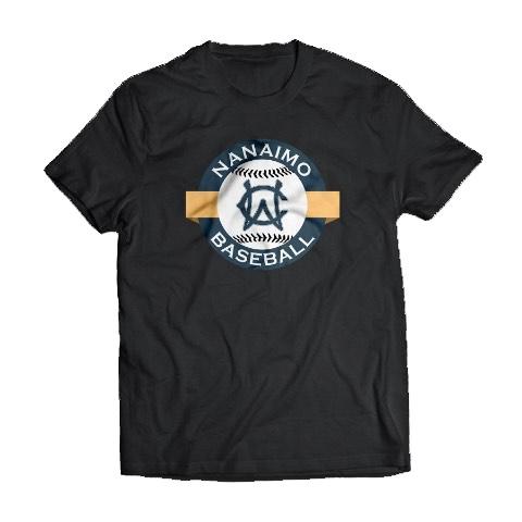 Navy Blue T-Shirt With Nanaimo Baseball Logo